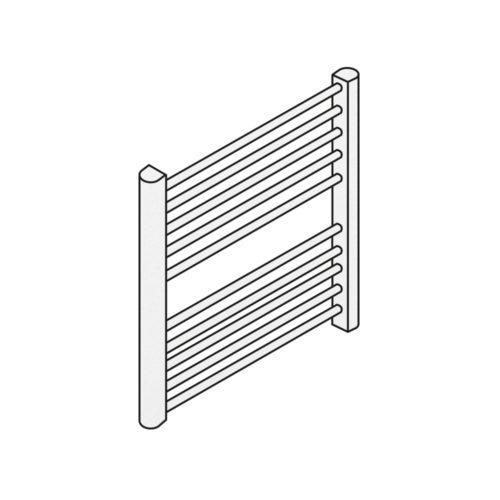 termosifoni tubolare con montante a sezione ovale